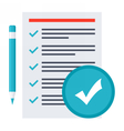 Tasks Completed Concept vector image