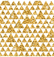 Triangle seamless pattern white and gold 1 vector image