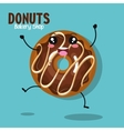 donut tasty sweet graphic vector image