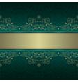 Green gold floral seamless pattern background vector image