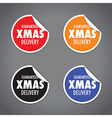 christmas peel sticker set vector image