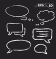 speak and dream bubble hand drawn on chalkboard vector image