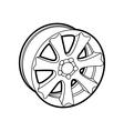 wheel on white vector image vector image