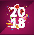 2018 happy new year greeting card concept vector image