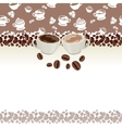 greeting card with cups of coffee vector image vector image