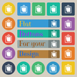 sheet of paper icon sign Set of twenty colored vector image