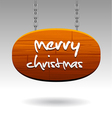 christmas sign vector image vector image