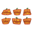 square jack o lantern icons vector image vector image