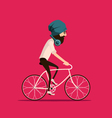 cycling vector image