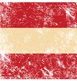 Austria retro flag vector image vector image