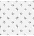 Ants seamless pattern vector image