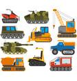 Caterpillar equipment tractor set vector image