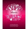 glowing background with musical notes instruments vector image