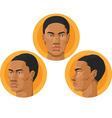 Head African American Man vector image