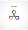 human hand icon abstract logo design vector image