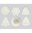 Scratched vintage christmas style labels se vector image