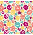 Seamless pattern with doodle dots vector image