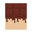 sweet chocolate bar vector image