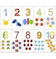The numbers from one to ten vector image