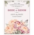 Wedding invitation with chrysanthemums vector image