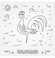 Rooster on white background vector image