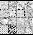 hand drawn zentangle background for coloring pag vector image