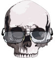 skull in glasses for reading vector image vector image