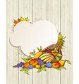 harvest background vector image