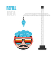 227refill idea vector image