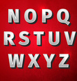retro vintage font vector image