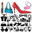 women accessories vector image vector image