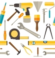 seamless pattern with repairs tools vector image