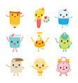Education Characters Icons Design vector image