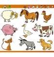 farm animals set cartoon vector image