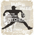Great pitcher vector image