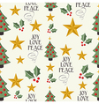 Merry Christmas icons tree seamless pattern vector image