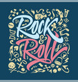 print for a rock and roll t-shirt on a closely vector image