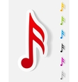 realistic design element musical note vector image