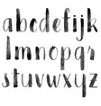 watercolor hand drawn alphabet vector image