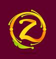 Z letter monogram design elements vector image