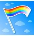 rainbow flag vector image