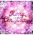 Christmas lettering inscription with confetti vector image