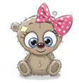 cute cartoon teddy bear girl vector image vector image