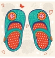 Little girl shoes vector image