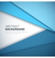 Blue paper layers abstract background vector image vector image