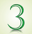 Number of Collection made of swirls - 3 vector image