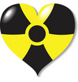 atomic -nuclear- heart danger vector image vector image