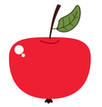 Cute beautiful red apple isolated on white vector image vector image