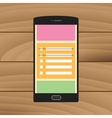 reminder checklist to do on the smartphone sticky vector image