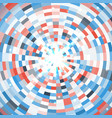 abstract blue round mosaic background vector image